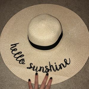 Accessories - Straw Sunhat with cute saying!